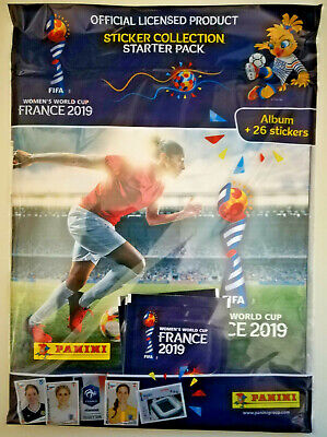 Panini Fifa Women's World Cup France 2019 Starter Pack: Album + 26 Stickers