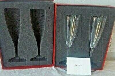 2 TALL WATER GOBLETS By BACCARAT ST REMY Pair of Two Original Box Brochure 9""