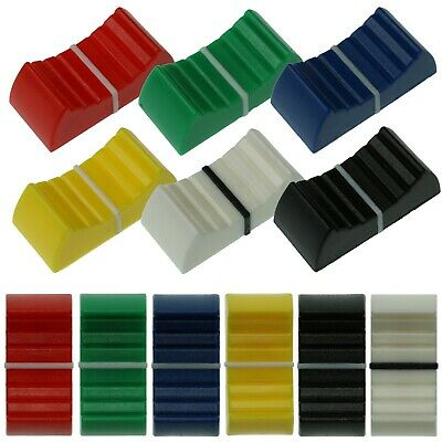 4mm & 8mm Fader Caps - 6 Colours - Mixer Slider Pot / Potentiometer Knobs