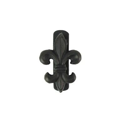 "4"" Cast Iron Fleur De Lis Door Knocker Rustic Metal Hardware French Home Decor"
