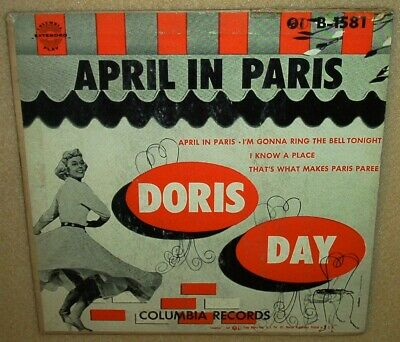 Doris Day - April In Paris EP 45 RPM with cover
