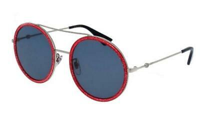 a0166f2a5 NEW AUTH GUCCI ROUND PINK GLITTER SILVER SUNGLASSES GG0061S 007 w/CASE -  JAPAN