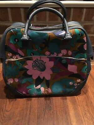 Vintage Samsonite Saturn Floral Tote Bag Luggage Suitcase Carryon
