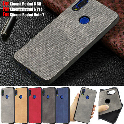 For Xiaomi Note 7 6 Pro 6A Slim Cloth PU Leather Soft TPU Case Shockproof Cover