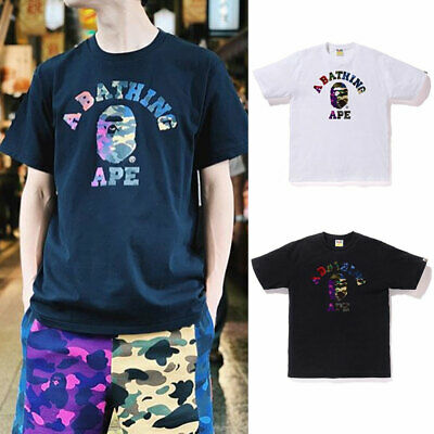 317e2789 S-3XL] A BATHING APE Men's MIX CAMO COLLEGE TEE 2colors From Japan ...