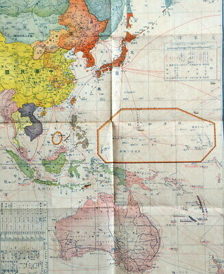 Map Of Southeast Asia And South Pacific.Wwii Japan War Situation Map East Asia South Pacific War Map