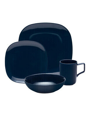 Salt&Pepper Shade 16 Piece Dinner Set - Indigo