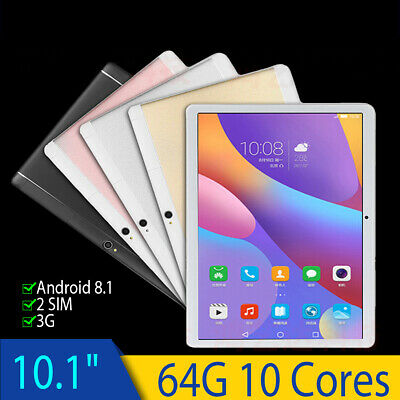 10'' Tablet PC Android 8.1 Octa 10Core 64GB 2Ghz 10 Inch HD WIFI 2SIM 4G Phablet