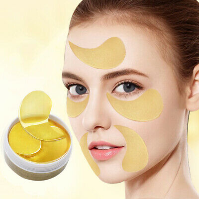 60Pcs Collagen 24k Gold Under Eye Gel Pad Mask Anti-Aging Wrinkle Face Patches
