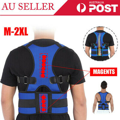 Men Women Adjustable Posture Corrector Back Support Shoulder Back Brace Belt AU