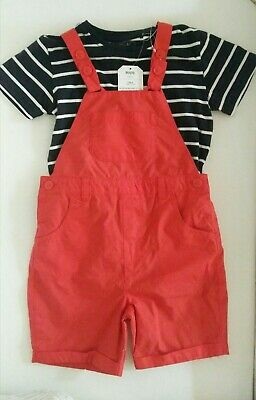 BNWT Next Boys Dungarees and T-shirt Set Age 3-4 years