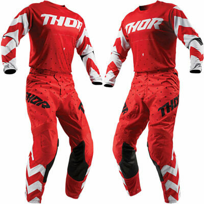 Thor MX Pulse Stunner MX Jersey/Pant Bundle - Red/White