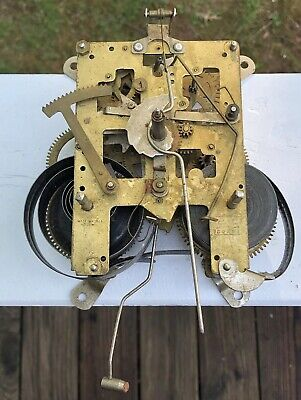 Korea Clock Movement Gears Mechanism Vintage Part