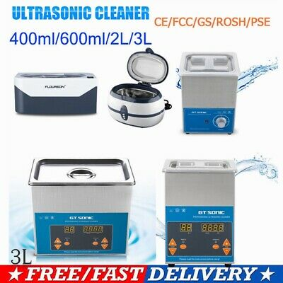 400ml/600ml/1300ml/2L/3L Ultrasonic Cleaner Ultra Sonic Cleaning Timer Heater