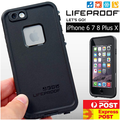 ✅ iPhone X XS MAX 6 7 8 Plus + Lifeproof FRE Case Cover Waterproof Shock Drop