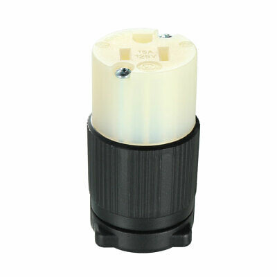 Locking Receptacle Socket Female NEMA 5-15R, 15A 125VAC, 2 Pole 3 Wire Grounding