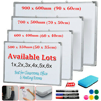 Magnetic Whiteboard Dry Wipe Drawing Board Office School Home Small Medium Large