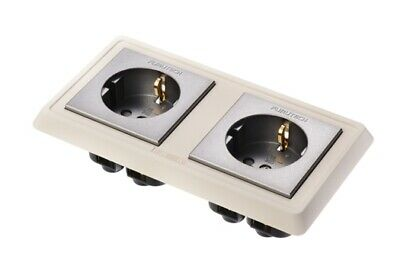 Furutech FP-SWS-D High Performance Double Schuko Wall Socket (Gold)