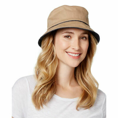 3046bf0ff1856f August Hat Company Women's Straw Fedora Denim Ribbon Hat Packable  Adjustable New.
