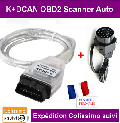 Promo - Interface Cable K+Dcan Can Usb Obd2 Bmw Mini Scanner - Multi Modeles