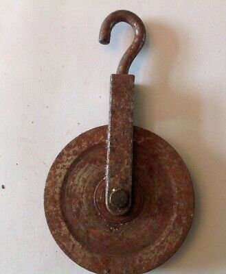 Clock Wheel Brass Pulley Vienna Style Larger 53mm Diam. For Wire To 3mm
