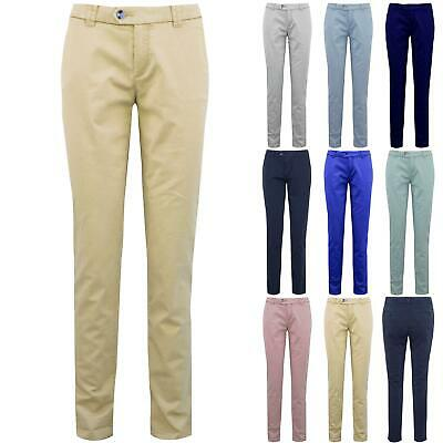 Womens CHINO Skinny Full Ankle Length Stretch Pocket Ladies Casual Trouser Pants