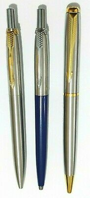 3 X Parker Style Ballpoint Pen Stainless With Style