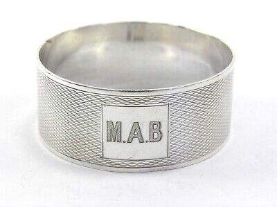 Antique Art Deco .925 sterling silver serviette napkin ring Birmingham 1932