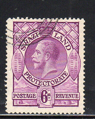 SWAZILAND #15    1933   6 p  KING GEORGE V   F-VF  USED