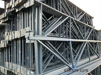 Used T-bolt Pallet Rack Shelving Racking Sections scaffolding one Section