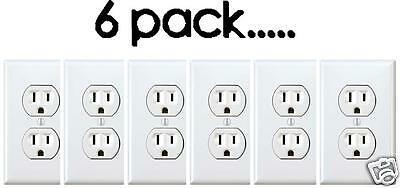 NEW  Electrical Outlet Stickers 6 Pack Prank Fake Joke Funny Custom Decal