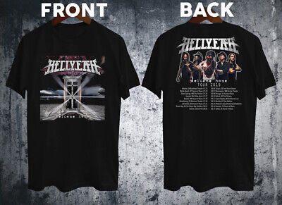 HELLYEAH tour 2019 WELCOME HOME ALBUM Classic Black T-shirt size S-2XL