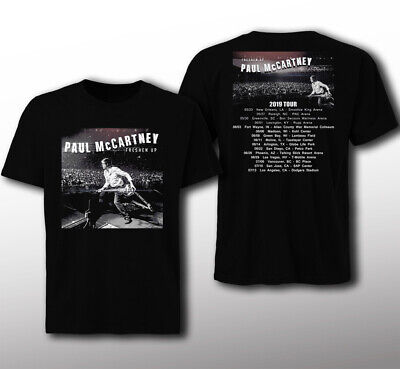 New Paul McCartney Freshen Up tour 2019 Classic Black T-shirt size S - 3XL