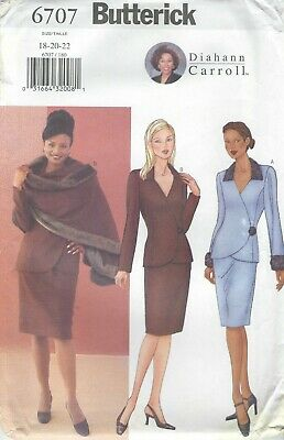 Butterick 6707 Misses'/Miss Petite Stole, Jacket, Skirt   Sewing Pattern