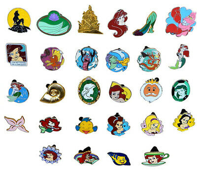 Ariel Little Mermaid 10 Themed Disney Trading Pins Set ~ Randomly Assorted ~ NEW