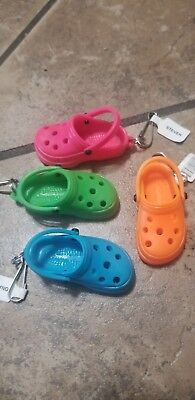 "1 CROC Shoe KEY CHAIN clog sandal PARTY FAVORS Loot Bags Girls Youth 2"" Colors"