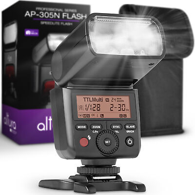 Camera Flash for Nikon by Altura Photo - I-TTL Speedlite for DSLR and Mirrorless