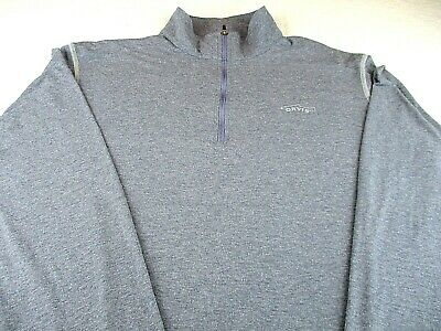 d89581a12 ORVIS Trout Bum Mens Large Half-Zip Long Sleeve Gray Pullover Cotton Blend