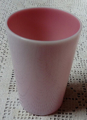 Victorian Beaker, C1880, Lovely Cranberry Glass Overlaid With Milk Glass