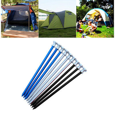ND_ LC_ High Strength Aluminium Alloy Outdoor Nail Camping Tent Peg Stake Port