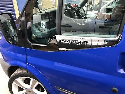 Ford Transit MK7 Chrome Side Door Windows Sill Cover S.STEEL 2006-2013