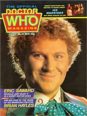 Doctor Who Magazine #94 in Near Mint condition. Marvel comics [*ht]