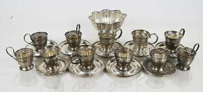 21 Itms.Sterling Silver Group, with Demitasse Cups Weight of sterling 14.955 ozt