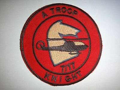 """Vietnam War US Army A Troop 7th Squadron 17th Cavalry Regiment """"KNIGHT"""" Patch"""