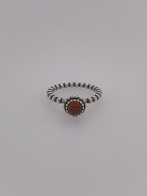 1bf0dbdc7 Pandora Birthday Bloom (190854CAR) Size 6, Sterling, Carnelian, July Ring  NEW