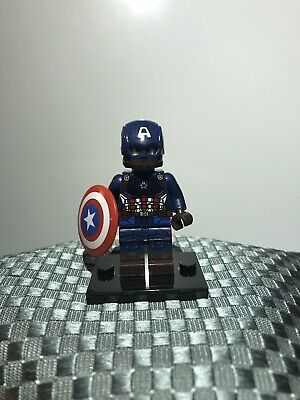 New Custom Minifigure Marvel Avengers End Game Superhero Captain America