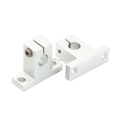 H● 2 Pcs SK10 10mm Bore Linear Rail Shaft Support for Milling Machine.