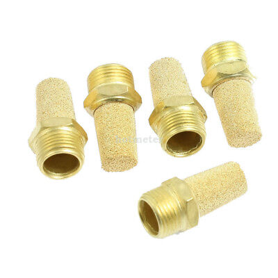 "H● 5* 3/8"" PT Thread Sintered Bronze Pneumatic Exhaust Silencer Muffler."