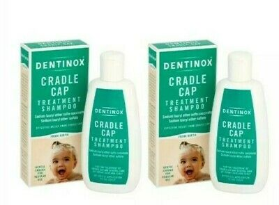 2 x 125 ml Dentinox Cradle Cap Baby Shampoo Suitable From Birth **Free Postage**