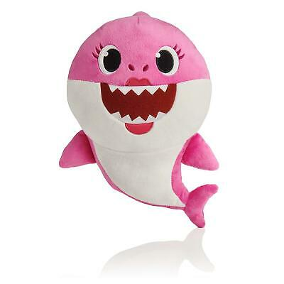 "Pinkfong Baby Shark Mommy Shark 10"" Plush with Sound (Pink)"